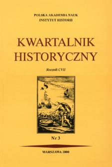 Kwartalnik Historyczny R. 107 nr 3 (2000), Listy do redakcji