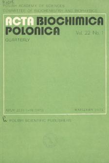 Acta biochimica Polonica, Vol. 22, No. 1, 1975