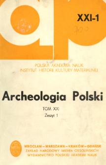 Archeologia Polski. T. 21 (1976) Z. 1, Recenzje