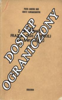 Z Problemów Frazeologii Polskiej i Słowiańskiej. T. 1 (1982)