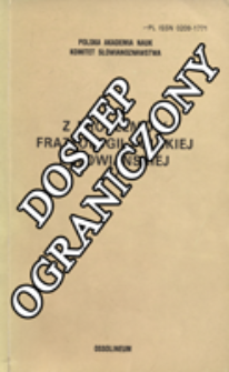 Z Problemów Frazeologii Polskiej i Słowiańskiej. T. 5 (1988)