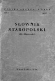 Słownik staropolski. T. 2 z. 1 (7) : Da - Dobrowolny