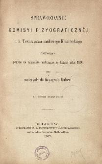 Sprawozdanie Komisji Fizjograficznej T. 1 (1866)