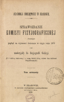 Sprawozdanie Komisji Fizjograficznej T. 14 (1879)