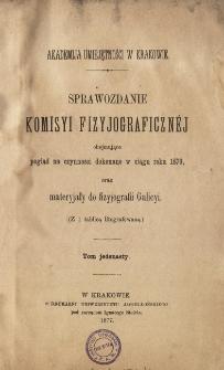 Sprawozdanie Komisji Fizjograficznej T. 11 (1876)