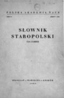 Słownik staropolski. T. 4 z. 1 (20), (La-Ludzki)