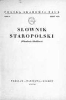 Słownik Staropolski. T. 4 z. 4 (23), (Mieszkać - Modlitwa)