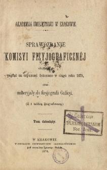 Sprawozdanie Komisji Fizjograficznej T. 10 (1875)