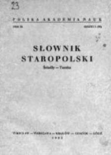 Słownik staropolski. T. 9 z. 1(55), Ściadły-Taczka
