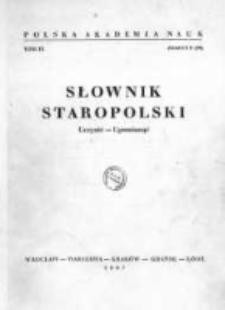 Słownik staropolski. T. 9 z. 5 (59), (Uczynić - Upomionąć)