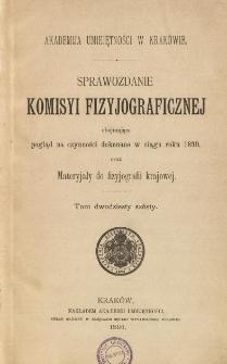 Sprawozdanie Komisji Fizjograficznej T. 26 (1890)