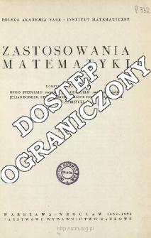 Zastosowania Matematyki, Spis treści i dodatki. T.4 (1958-1959)