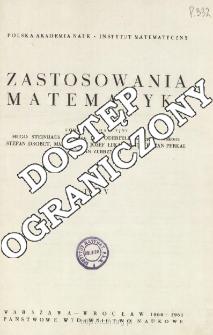Zastosowania Matematyki, Spis treści i dodatki. T.5 (1960-1961)