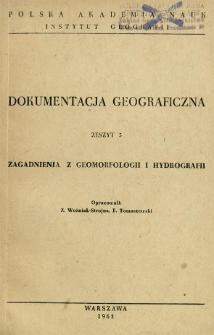 Zagadnienia z geomorfologii i hydrografii