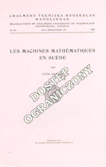 Les machines mathématiques en Suède