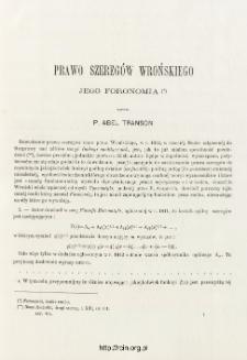 Prawo szeregów Wrońskiego - jego Foronomia