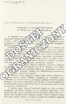 O długości sylabicznej wyrazów w tekstach autorów polskich