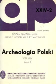 Archeologia Polski. Vol. 24 (1980) No 2, Reviews