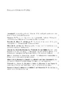 Fragmenta Faunistica - Spis treści vol. 55, no. 1