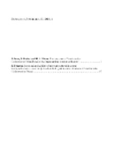Fragmenta Faunistica - Spis treści vol. 53, no. 1