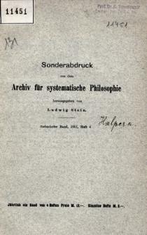 Philosophische Arbeit in Polen : von Anfang 1910 bis Mitte 1911