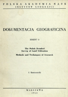 The Polish detailed survey of land utilization : methods and techniques of research