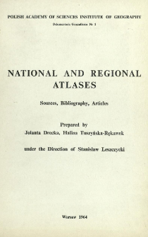 National and regional atlases : sources, bibliography, articles