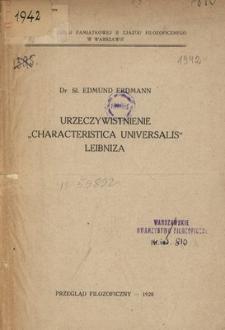 """Urzeczywistnienie """"Characteristica Universalis"""" Leibniza"""
