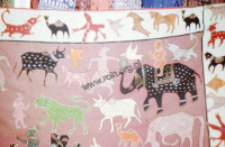 Fabric in animal pattern (Iconographic document)