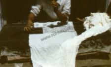 Produkcja tkanin - farbowanie i drukowanie, Radżastan (Dokument ikonograficzny)