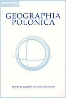 Geographia Polonica Vol. 86 No. 4 (2013), Contents