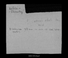 Kołaki-Olczuchy. Kartoteka powiatu ciechanowskiego w średniowieczu. Kartoteka Słownika historyczno-geograficznego Mazowsza w średniowieczu