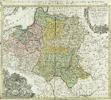 Mappa geographica Regni Poloniae ex novissimis quotquot sunt mappis specialibus composita et ad L. L. Stereographica projectionis revocata a Tob. Mayero S.C.S.