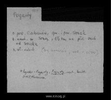 Pogąsty. Files of Ciechanow district in the Middle Ages. Files of Historico-Geographical Dictionary of Masovia in the Middle Ages