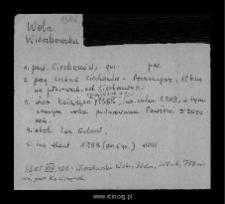 Wola Wierzbowska. Kartoteka powiatu ciechanowskiego w średniowieczu. Kartoteka Słownika historyczno-geograficznego Mazowsza w średniowieczu