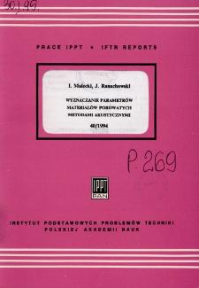 Wyznaczanie parametrów materiałów porowatych metodami akustycznymi