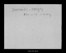 Janowiec-Zdzięty. Files of Mlawa district in the Middle Ages. Files of Historico-Geographical Dictionary of Masovia in the Middle Ages