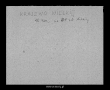 Krajewo Wielkie. Files of Mlawa district in the Middle Ages. Files of Historico-Geographical Dictionary of Masovia in the Middle Ages