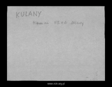 Kulany. Files of Mlawa district in the Middle Ages. Files of Historico-Geographical Dictionary of Masovia in the Middle Ages