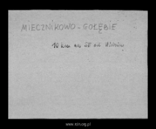 Miecznikowo-Gołębie. Files of Mlawa district in the Middle Ages. Files of Historico-Geographical Dictionary of Masovia in the Middle Ages