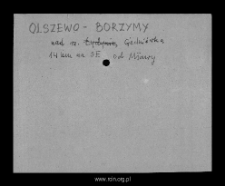 Olszewo-Borzymy. Files of Mlawa district in the Middle Ages. Files of Historico-Geographical Dictionary of Masovia in the Middle Ages