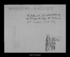 Waśniewo-Gwoździe. Kartoteka powiatu mławskiego w średniowieczu. Kartoteka Słownika historyczno-geograficznego Mazowsza w średniowieczu