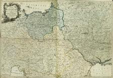 Karta predstavlâûŝaâ Polšu i Moldaviû s okolo ležaŝimi zemlâmi