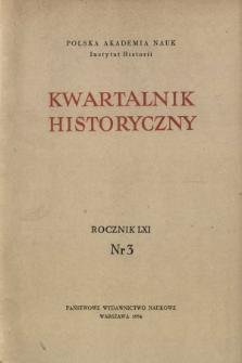 Kwartalnik Historyczny R. 61 nr 3 (1954), Życie naukowe w kraju
