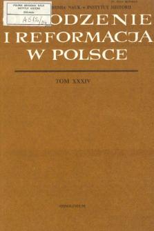 Odrodzenie i Reformacja w Polsce T. 34 (1989), Recenzje
