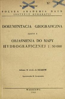 Objaśnienia do mapy hydrograficznej 1:50 000 : arkusz M-34-44-A Ożarów