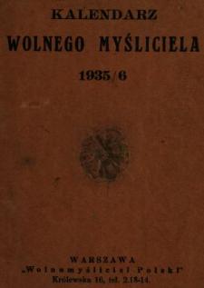 Kalendarz Wolnego Myśliciela 1935/1936