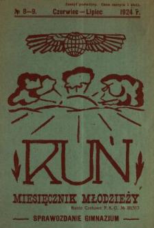 Ruń : miesięcznik młodzieży kresowej : organ Centrali Kół Miłośników Literatury