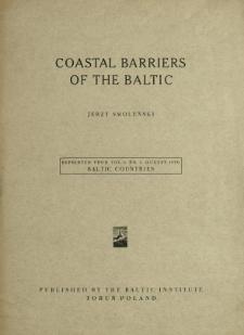 Coastal barriers of the Baltic