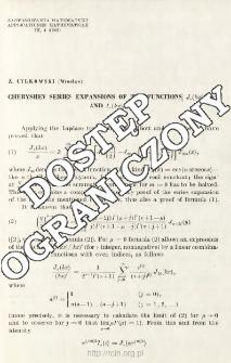 Chebyshev series expansions of the functions Jv,(kx)/(kx)v and Iv(kx)/(kx)v